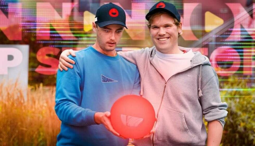 MORO: Christian Wehus (til venstre) og Sondre Rahm er programledere for viralsuksessen Non Stop på Dagbladet TV.
