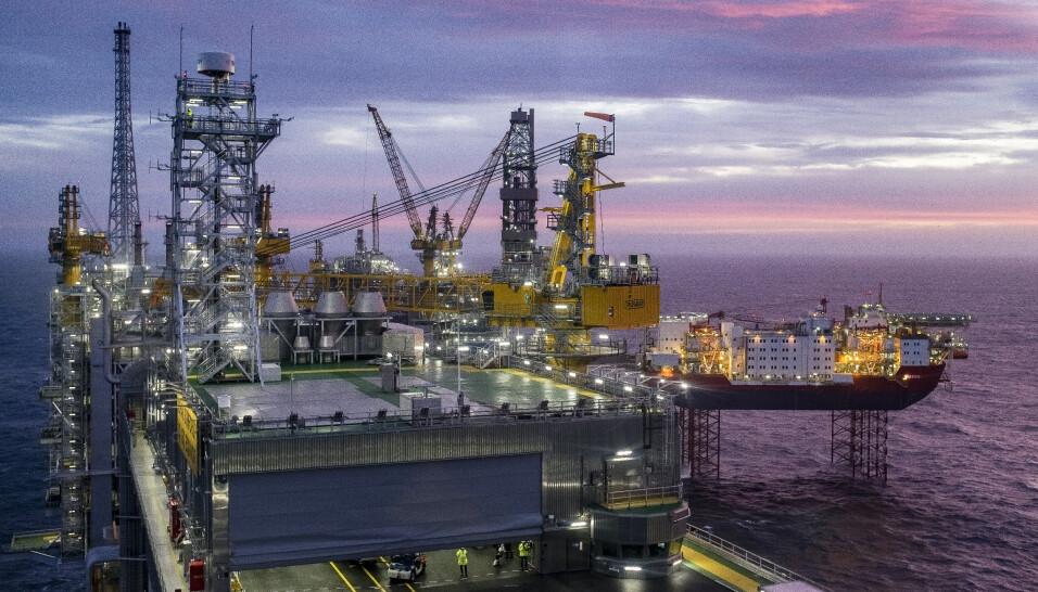 BORER ETTER OLJE: Johan Sverdrup er det tredje største oljefeltet på norsk sokkel, med forventede ressurser på 2,7 milliarder fat oljeekvivalenter. Foto: Carina Johansen / NTB