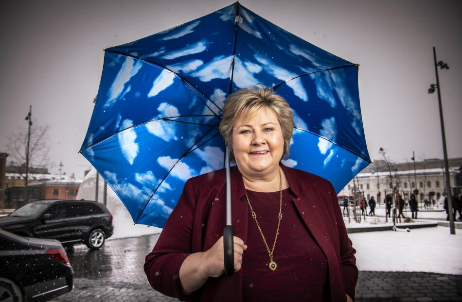 TROEN: Som nyvalgt Høyre-leder i 2004 fikk Erna Solberg spørsmål om hun virkelig trodde hun kunne bli statsminister. Erna svarte: «Når jeg ser rundt meg på hvem som har vært det, så kan jeg også.» Foto: Lars Eivind Bones / Dagbladet