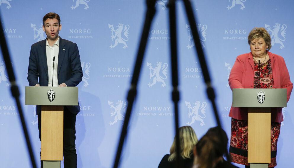 HÅP: Statsråd Henrik Asheim håper at smittesituasjonen tillater statsminister Solberg å tillate fysisk oppmøte for studenter ganske raskt. Foto: Vidar Ruud / NTB