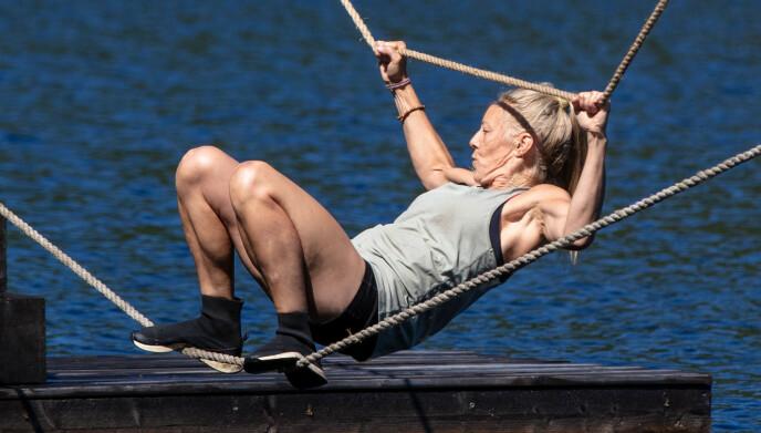 GIKK NED: Sølje Bergman mistet fem kilo. Her under tirsdagens hinderløype. Foto: Alex Iversen / TV 2