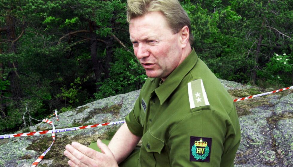 MINNES FUNNET: Minnet om funnet han gjorde i Baneheia 21. mai 2000, er høyst levende for tidligere HV-leder Stein Borgersen (68). Arkivfoto: Erling Hægeland / Dagbladet