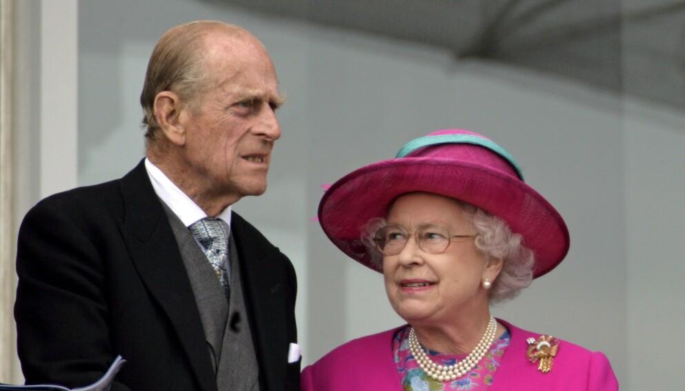 INNLAGT: Prins Philip er innlagt på sykehus, og blir værende over helga. Foto: REX / NTB