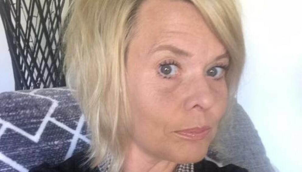 SLITER FORTSATT: Christina Andersson har hatt coronasymptomer i nesten et år. Foto: Privat