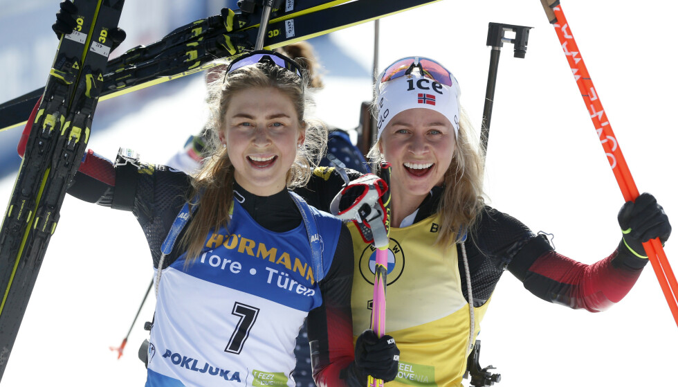 DEN NESTE: Det mener i hvert fall Tiril Eckhoff om bestevenninna Ingrid Landmark Tandrevold. Foto: AP Photo/Darko Bandic