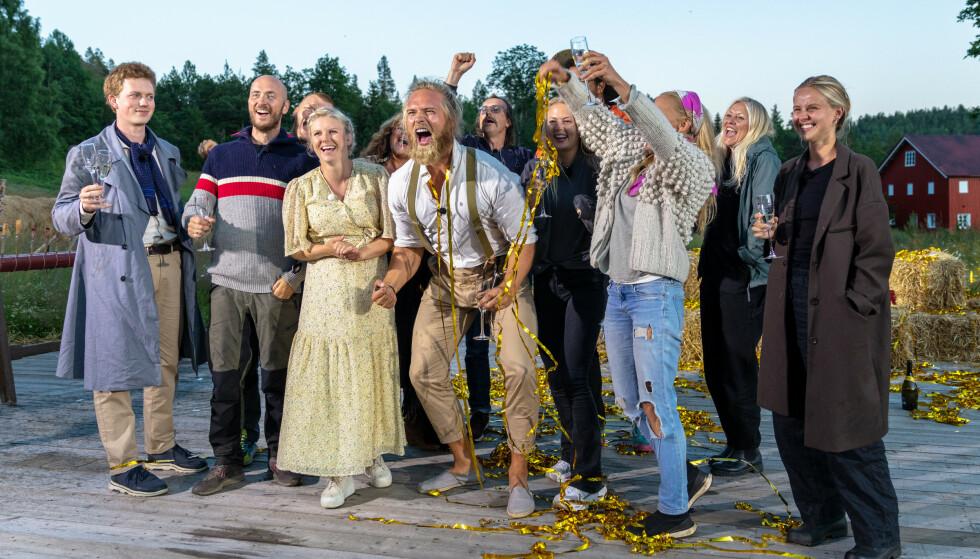 SLAPP JUBELEN LØS: Lasse Matberg vant årets«Farmen kjendis» etter å ha slått komiker Terje Sporsem i dn avgjørende finalen. Foto: Alex Iversen / TV 2