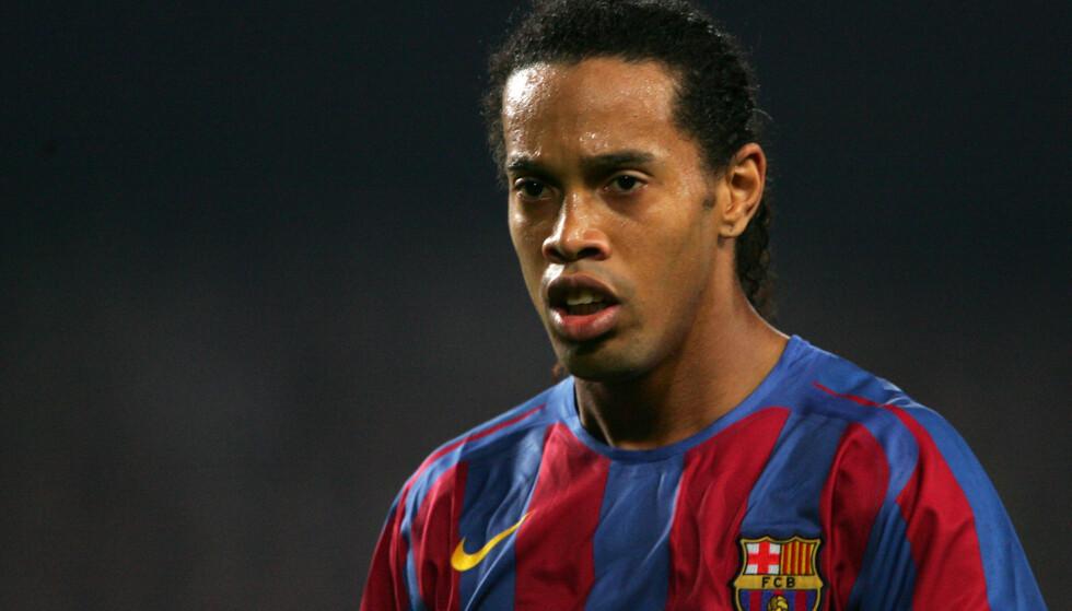 I SORG: Tidligere Barcelona-spiller Ronaldinho er i sorg etter tapet av sin mor. Foto: Back Page Images/REX