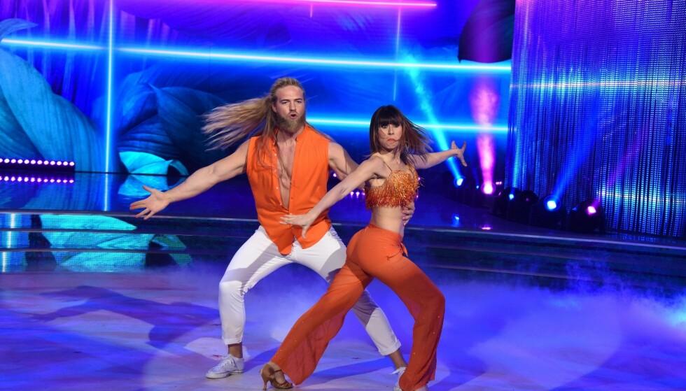 VANT: Lasse Matberg og dansepartneren Sara Di Vaira vant «Skal vi danse» i Italia i 2019. Foto: Rai Uno
