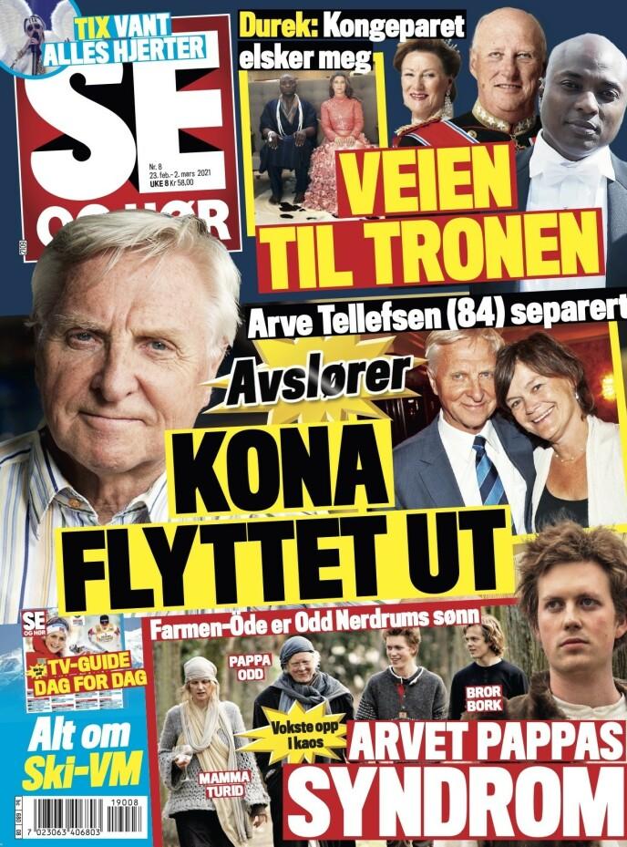 OVER: I tirsdagens utgave av Se og Hør bekrefter Arve Tellefsen og Kristin Slørdahl at de har gått hver til sitt. Foto: Faksimile