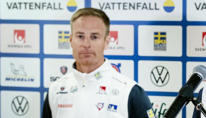POSITIV: Smøresjef Petter Myhlback. Foto: Ulf Palm / TT / NTB
