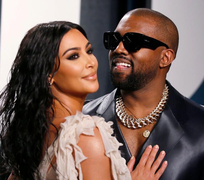 For å bli skilt: Nyheten kom i helgen om at stjerneparet Kim Kardashian og Kanye West blir skilt. Foto: Danny Moloshok / REUTERS / NTB