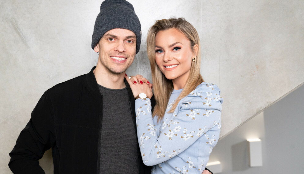 NYTT FAMILIEMEDLEM: Caroline Berg Eriksen og ektemannen Lars-Kristian Eriksen ser fram til å snart få en liten valp inn i familien. Foto: Espen Solli / TV 2