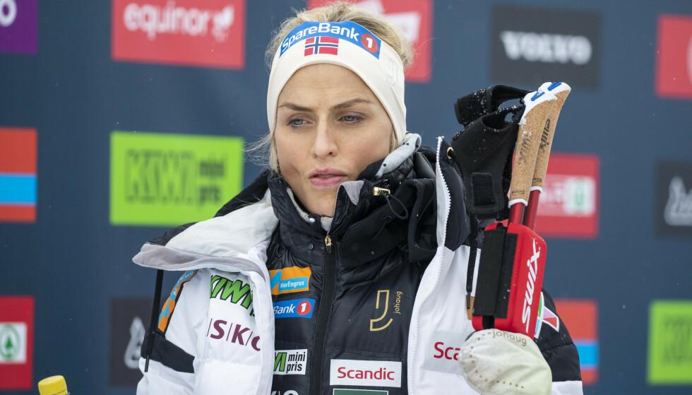 UTTALER SEG: Therese Johaug uttaler seg for første gang om konflikten. Foto: Terje Pedersen / NTB