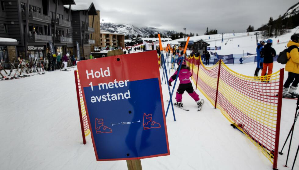 BARNEBAKKEN: En ivrig skigåer er klar for en ny runde i bakken. Foto: Nina Hansen / Dagbladet