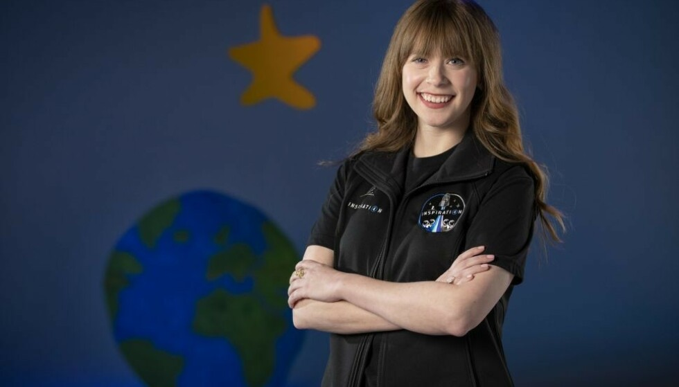 GLEDER SEG: Haley Arceneaux er svært spent på romferden hun skal begi seg ut på senere i år. Foto: Spacex