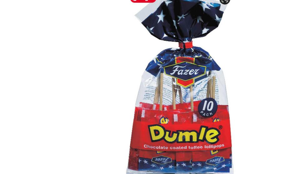 SLUTT: Det er for dyrt å fortsette produksjonen av Dumle-pinnene, så nå blir den karakterisiske karamell-kjærligheten borte. Foto: Fazer