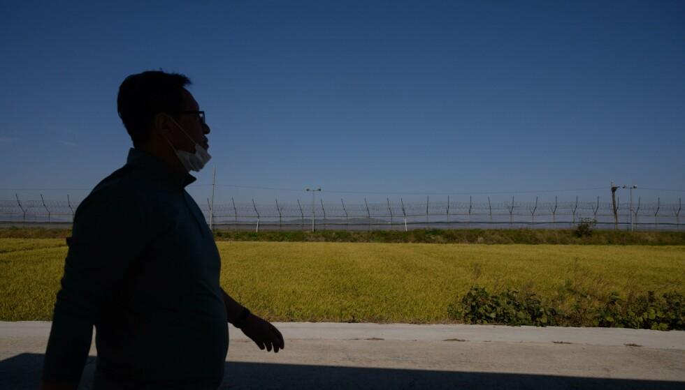 STRENGT BEVOKTET: Såkalte «DMZ» på grensa mellom Nord- og Sør-Korea. Foto: Ed JONES / AFP