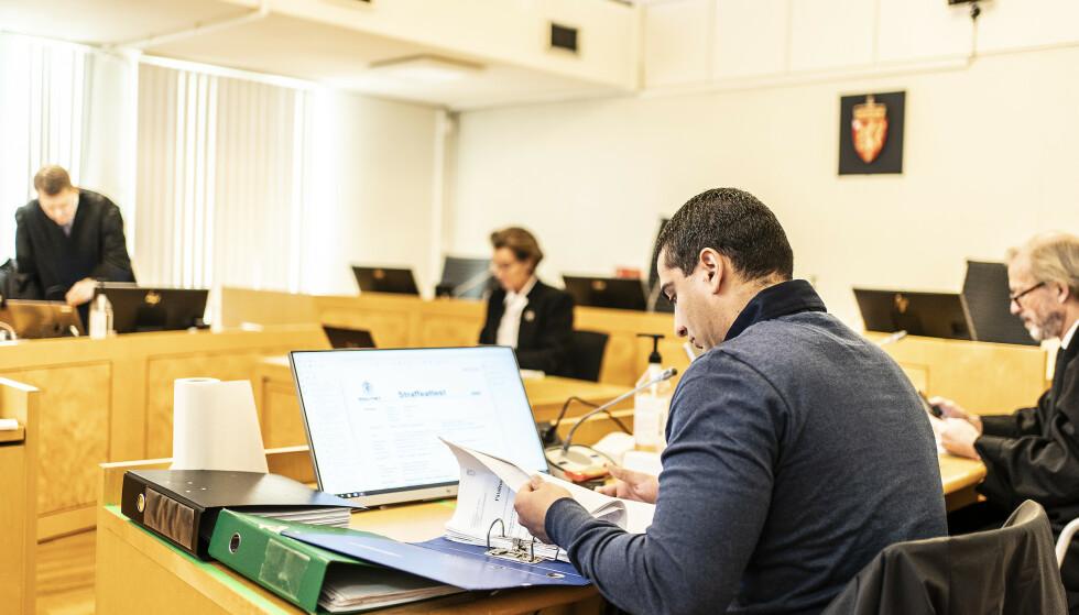 HÅP: 31-åringen har håp om å slippe ut en dag. Her fra rettssaken i Asker og Bærum tingrett. Foto: Hans Arne Vedlog / Dagbladet
