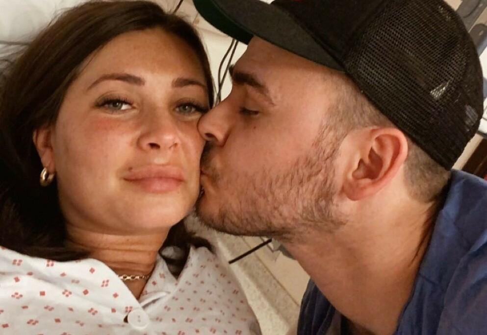BABYLYKKE: Realityparet Elin Bergius og Christian Fredrik Trælnes har fått sitt tredje barn. Foto: Privat