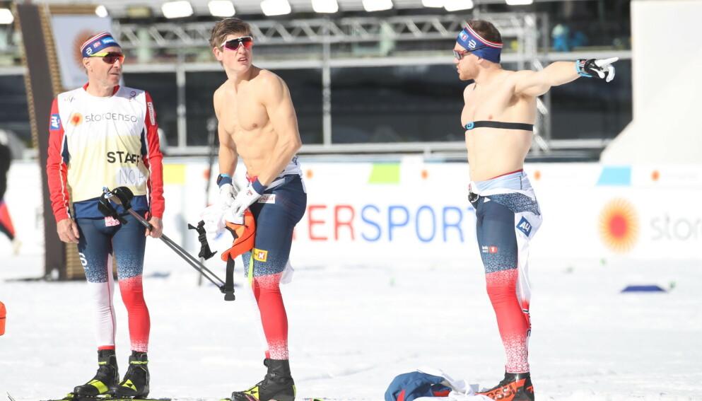 17 GRADER: Uvanlig varme venter skiløperne på dagens VM-sprint. Foto: Bjørn Langsem / Dagbladet