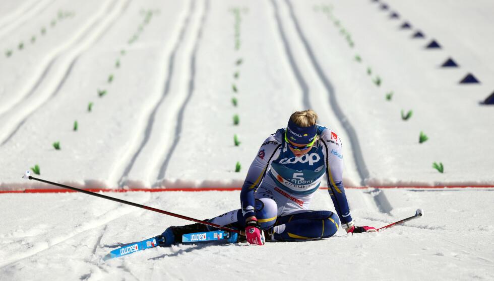 SKUFFET: Maja Dahlqvist etter semifinalen. REUTERS/Kai Pfaffenbach