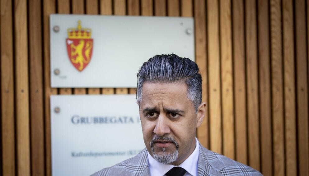 GJØR ENDRINGER: Kulturminister Abid Raja (V) dobler stimuleringsordningen for kultursektoren. Foto: Bjørn Langsem / Dagbladet