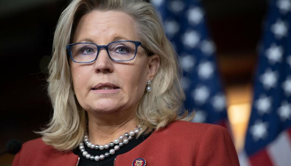 BES TREKKE SEG: Liz Cheney. Foto: SAUL LOEB / AFP