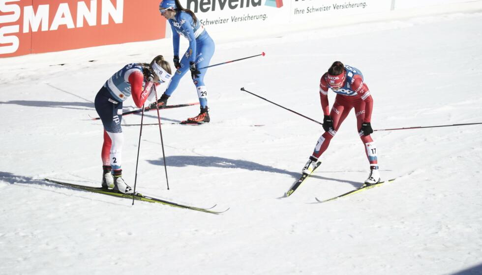 DEPPER: Natalja Neprjajeva kom seg ikke videre fra kvartfinalen. Foto: Bjørn Langsem / Dagbladet