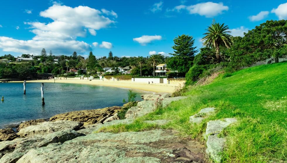 FUNN: Det var på en strand utenfor Sydney at campingturister gjorde det makabre funnet. Illustrasjonsfoto: Elias Bitar / Shutterstock / NTB