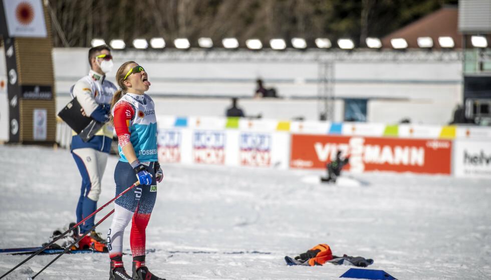 DEBUTANT: Helene Marie Fossesholm testet VM-løypene i Oberstdorf tidligere denne uka. Foto: Bjørn Langsem / Dagbladet