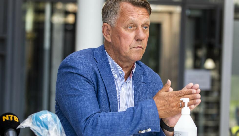 SJEF: Ordfører Gunnar Wilhelmsen på en tidligere pressekonferanse. Foto: Terje Pedersen / NTB