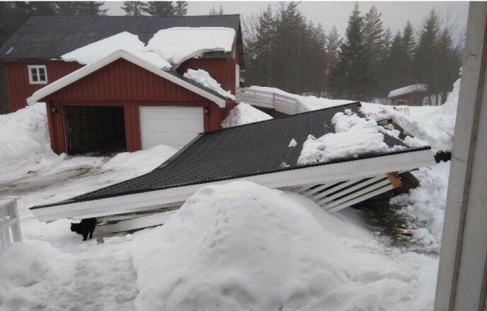 RAST: Annekset brøt sammen og førte til store skader. Foto: Privat