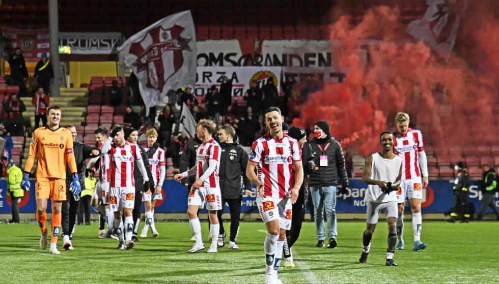 KREVER BOIKOTT: Tromsø er blant klubbene som ber Norge boikotte VM i fotball i Qatar. Det skal etter planen arrangeres fra november til desember i 2022. Foto: Rune Stoltz Bertinussen / NTB