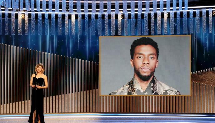 FAVORITT: Chadwick Boseman vant Grammy for Best Actor i filmen «Ma Rainey's Black Bottom», tidligere i år. Foto: NTB