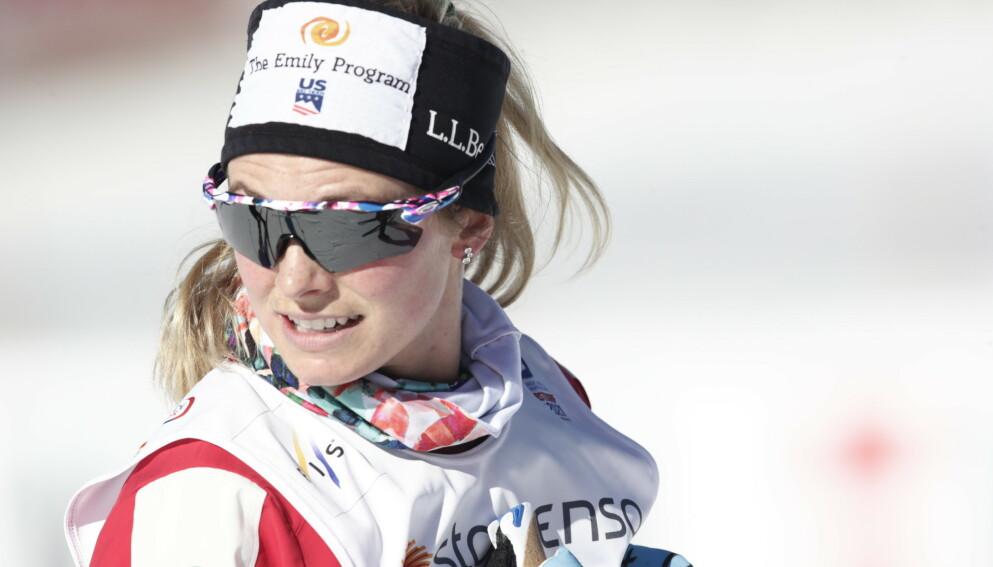 TUNG START: Jessica Diggins har ikke sett ut som verdenscuplederen hun er så langt i VM. Foto: Bjørn Langsem / Dagbladet