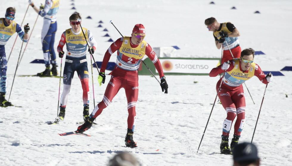 IKKE BESTEVENNER: Aleksandr Bolsjunov og Gleb Retivykh. Foto: Bjørn Langsem / Dagbladet