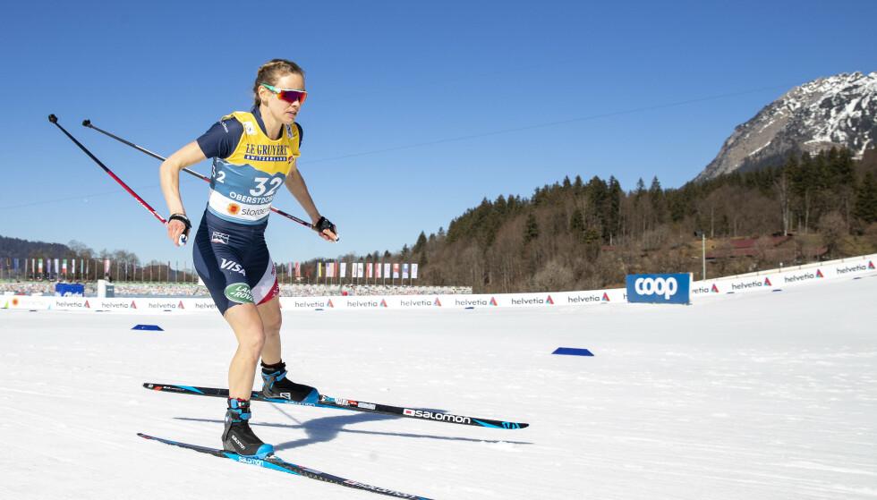 SOMMER: Det meste minte om sommer i Oberstdorf tirsdag, med unntakk av VM-rennet. Foto: Bjørn Langsem / Dagbladet