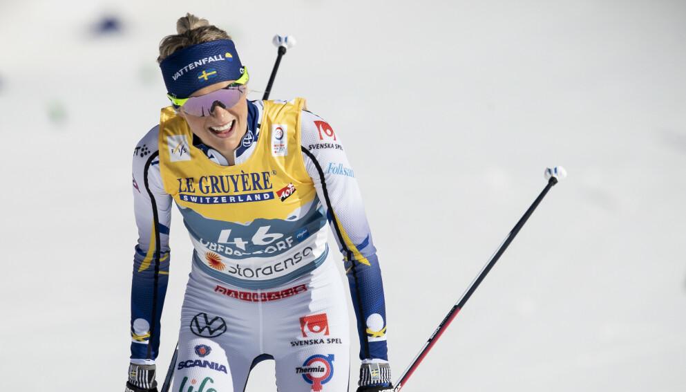 SLÅTT TILBAKE: Frida Karlsson var langt nede for bare fire uker siden. Nå står hun med to sølvmedaljer i VM hittil. Foto: Bjørn Langsem / Dagbladet