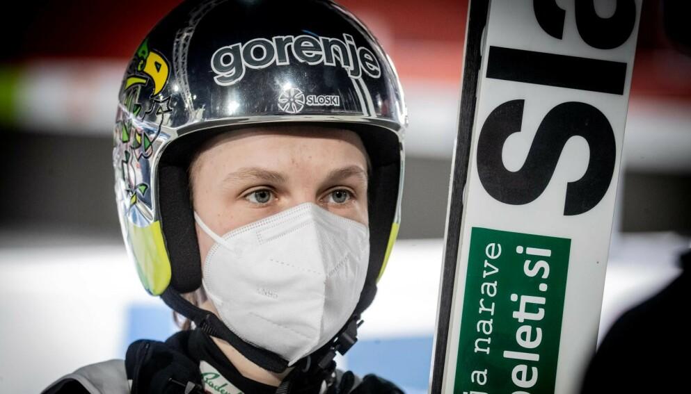 SNAKKER UT: Ema Klinec. Foto: Bjørn Langsem