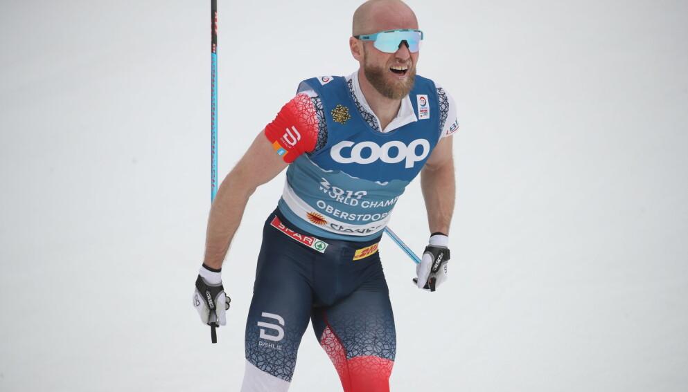 STOLT: Martin Johnsrud Sundby er stolt av den jobben han har lagt ned før onsdagens 15 kilometer. Foto: Bjørn Langsem / Dagbladet