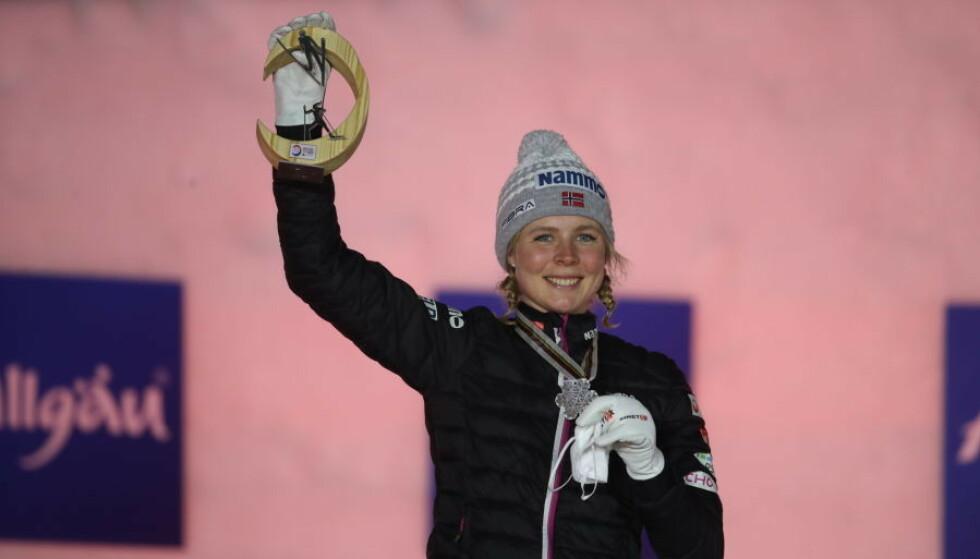 SLO TILBAKE: Maren Lundby tok VM-sølv. Foto: Bjørn Langsem / Dagbladet