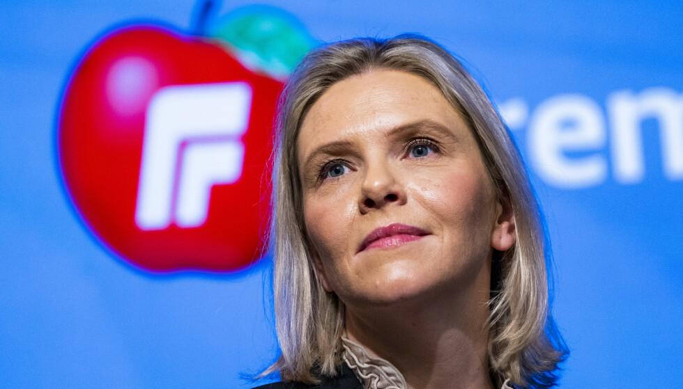 HARD HUD: Mímir Kristjánsson foreslår at Sylvi Listhaug bør gå på kurs for å få seg hardere hud. Det er vel strengt tatt mange andre politikere som kunne trengt dette mer enn henne, skriver innsenderne. Foto: Håkon Mosvold Larsen / NTB