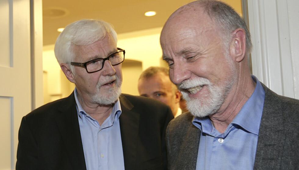 ORDKNAPP: Ordfører i Molde,Torgeir Dahl (t.h), har vært svært ordnapp de siste dagene. Foto: Vidar Ruud / NTB