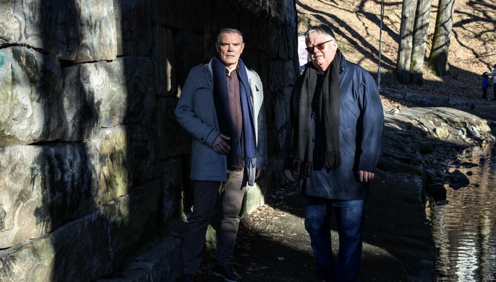 NY RUNDE: Jostein Sørstrønen (t.v.) og Arne Bernt Paulsen er ikke i tvil, denne gangen skal de være til stede i retten. Nå håper de på full gjennomgang av Baneheia-saken. Foto: Jacob J. Buchard / Fædrelandsvennen