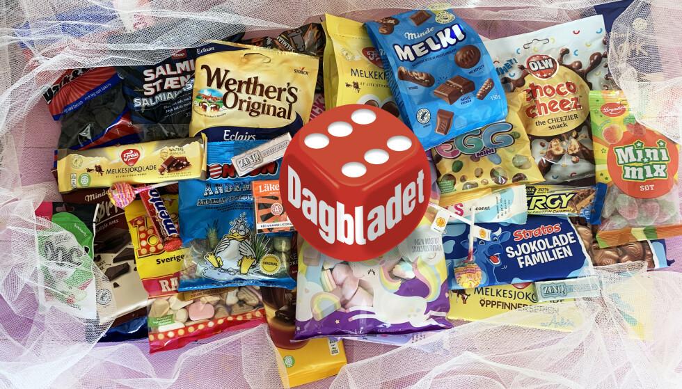 SØTE SAKER: Vi har testet årets godterinyheter. Her er mye å glede seg til!