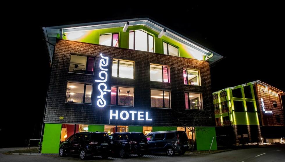BOSTED: Hopperne bor på Explorer Hotel i Oberstdorf. Foto: Bjørn Langsem