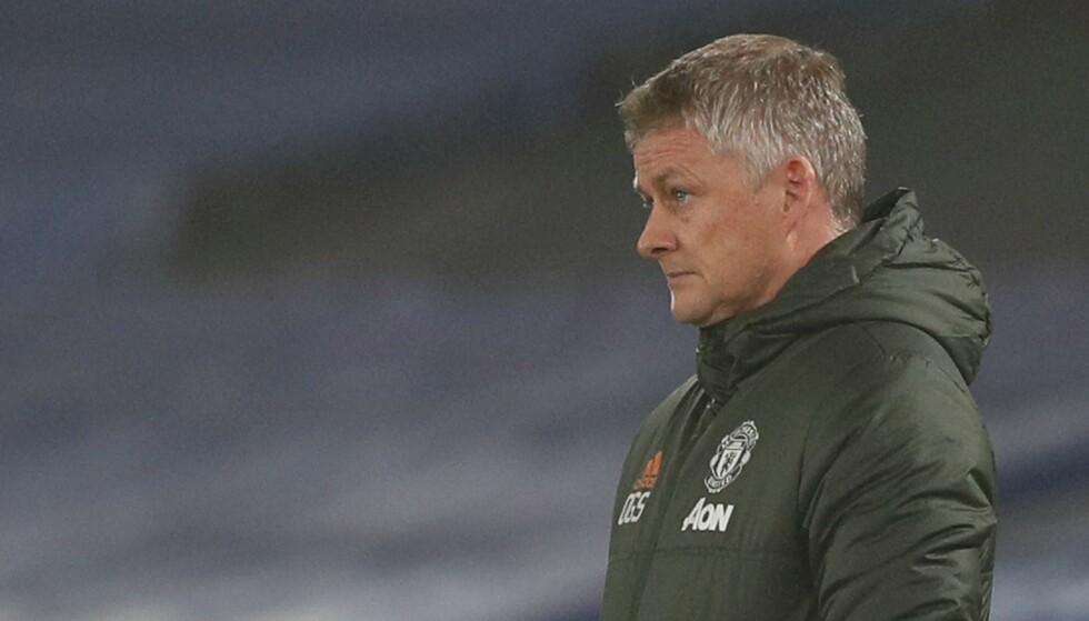 DÅRLIG FORM: Solskjær og Manchester United har kun to seiere på de siste åtte kampene. På søndag venter byrivalen i storform. Foto: NTB