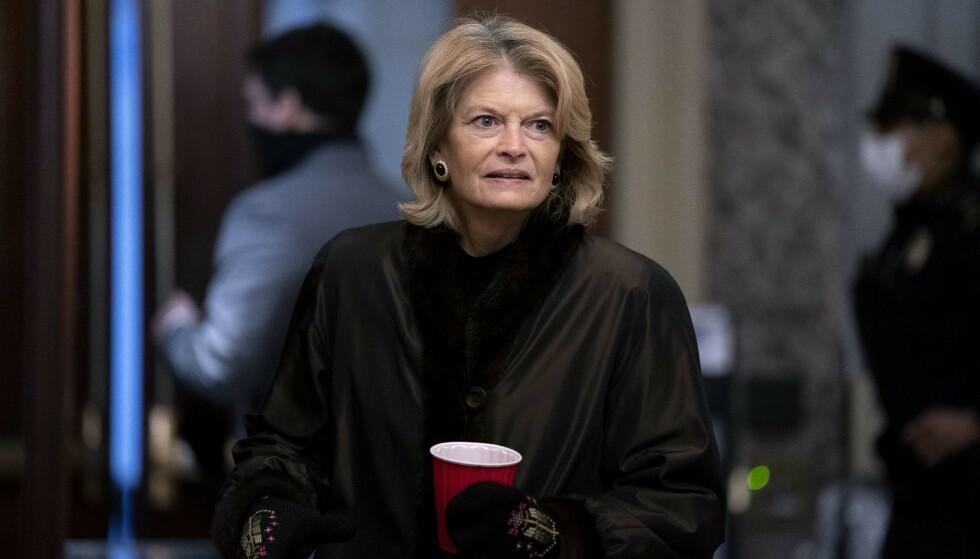 Críticos de Trump: Lisa Murkowski fue una de las personas que votó a favor de que Donald Trump fuera condenado en un caso de la Corte Suprema en su contra. Foto: NTB.