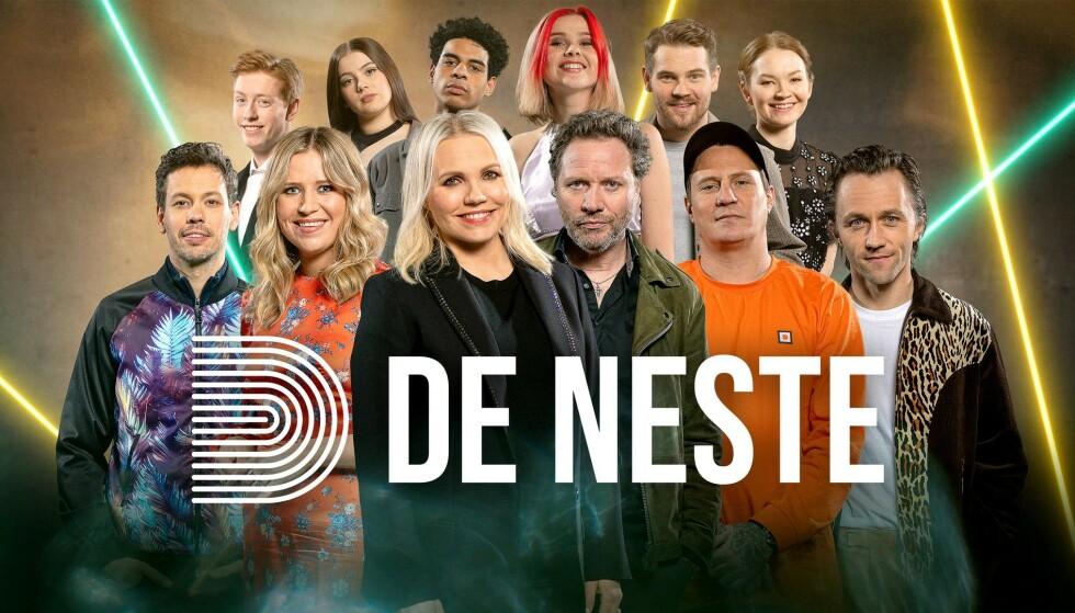DE NESTE: Seks unge sangere skal tolke seks mer bevandrede artister. Hvem overbeviser panelet? Alle foto: NRK