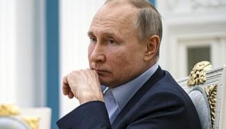 STØTTER BOLSJUNOV: Vladimir Putin. Foto: Alexei Druzhinin, Sputnik, Kremlin Pool Photo via AP